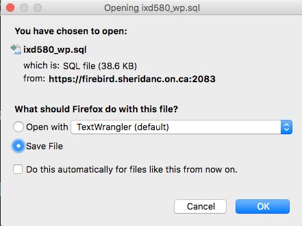 The Mac Techs @ Sheridan :: cPanel Backups